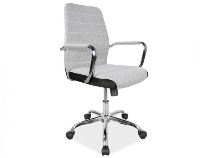 Scaun de birou ergonomic tapitat cu stofa Q-M3 Grey, l47xA49xH92-102 cm