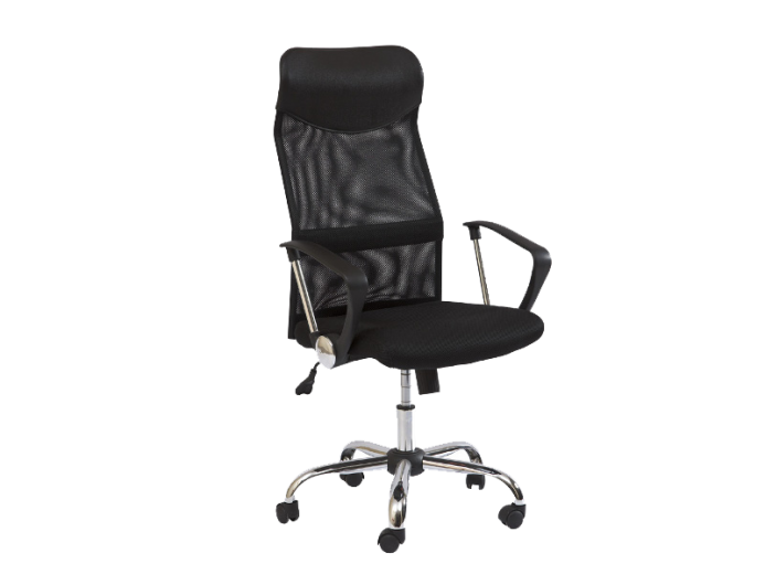 Scaun de birou ergonomic, tapitat cu stofa Q-025 Black, l62xA50xH111-120 cm