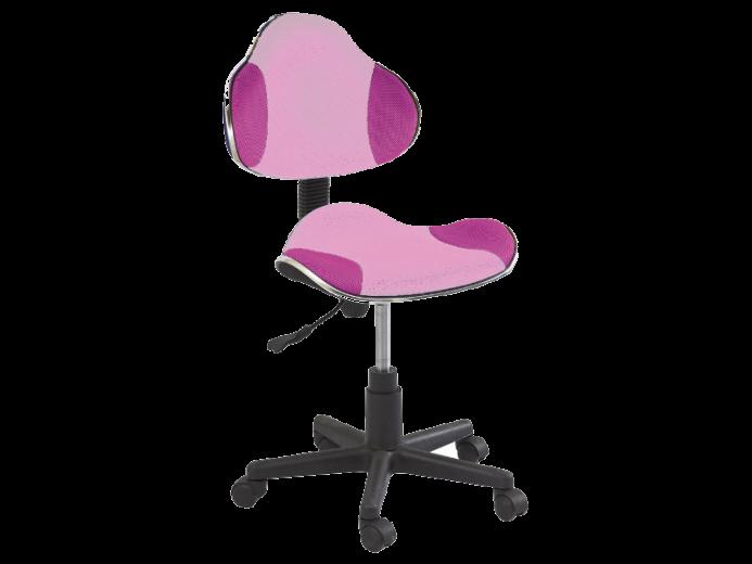 Scaun de birou pentru copii, tapitat cu stofa Q-G2 Pink, l48xA41xH84-95 cm