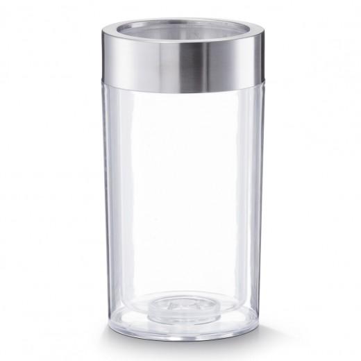 Racitor de vin, plastic si inox, Transparent Ø 12xH22,5 cm