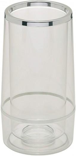 Racitor pentru sticle, din plastic, Glacette Satin Transparent, Ø13xH24 cm