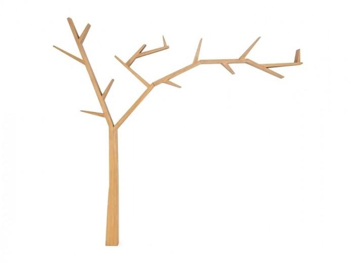 Raft din lemn de pin Poprad Tree Right Natural, l255xA15xH220 cm