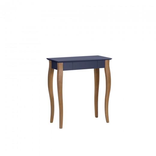 Masa de birou din lemn de fag si MDF, cu 1 sertar Lillo Small Graphite / Beech, L65xl40xH74 cm