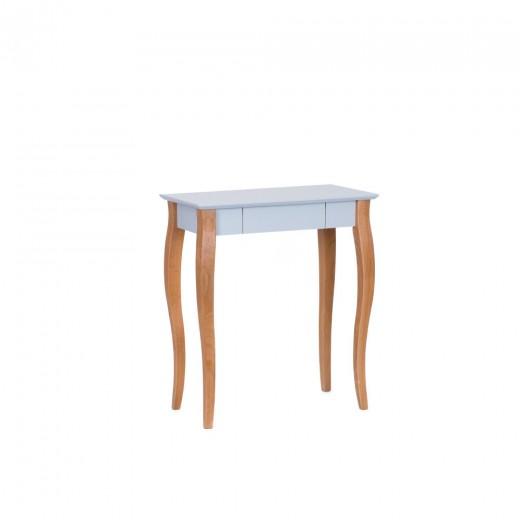 Masa de birou din lemn de fag si MDF, cu 1 sertar Lillo Small Light Grey / Beech, L65xl40xH74 cm