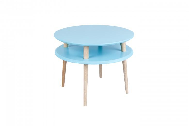 Masa de cafea din lemn de fag si MDF Ufo Medium Dark Turquoise / Beech, Ø57xH45 cm