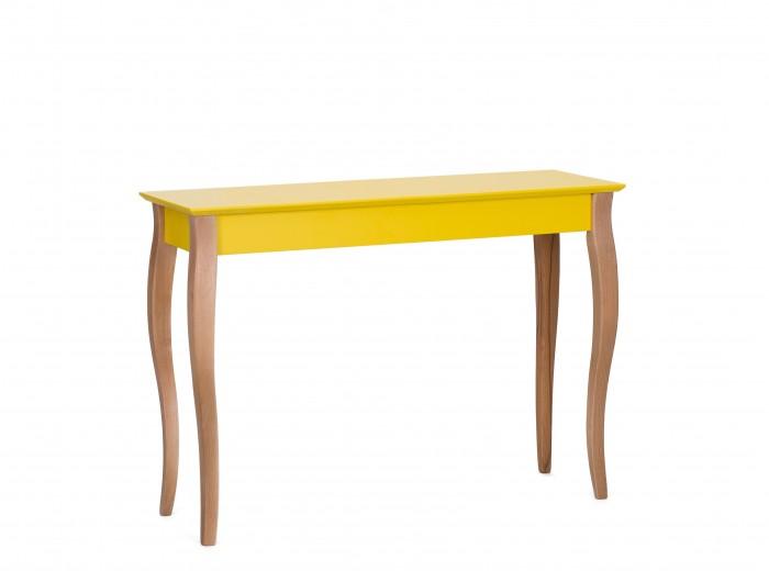 "Consola din lemn de fag si MDF ""Lillo Large"" Yellow, l105xA35xH74 cm"