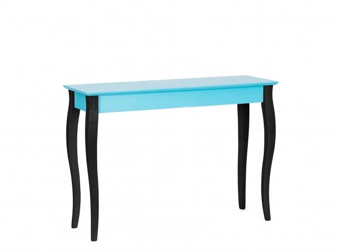 "Consola din lemn de fag si MDF ""Lillo Large"" Dark Turquoise / Black, l105xA35xH74 cm"