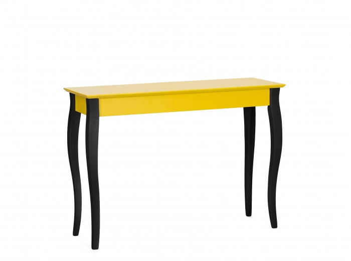 Consola din lemn de fag si MDF Lillo Large Yellow / Black, l105xA35xH74 cm