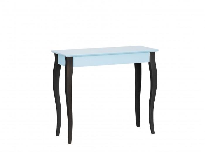 Consola din lemn de fag si MDF Lillo Medium Light Turquoise / Black, l85xA35xH74 cm
