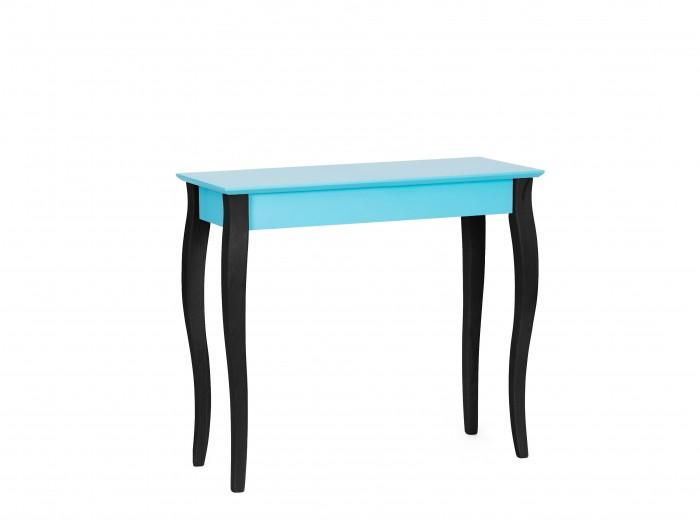 Consola din lemn de fag si MDF Lillo Medium Dark Turquoise / Black, l85xA35xH74 cm