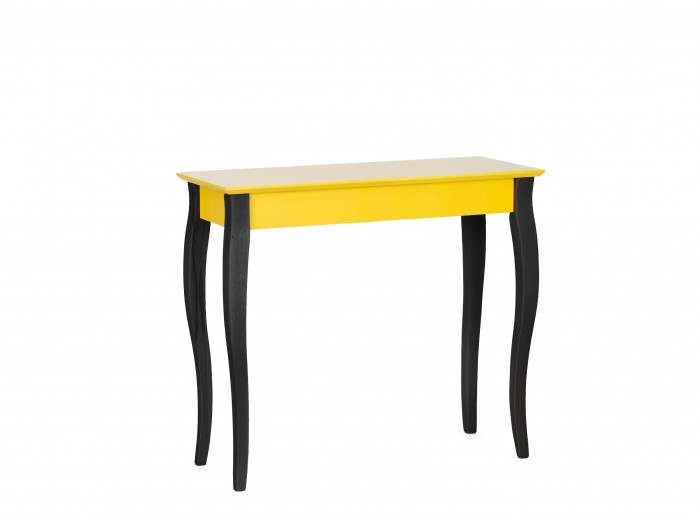 "Consola din lemn de fag si MDF ""Lillo Medium"" Yellow / Black, l85xA35xH74 cm"