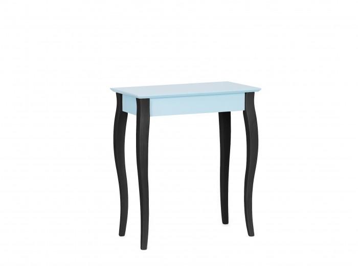 Consola din lemn de fag si MDF Lillo Small Light Turquoise / Black, l65xA35xH74 cm