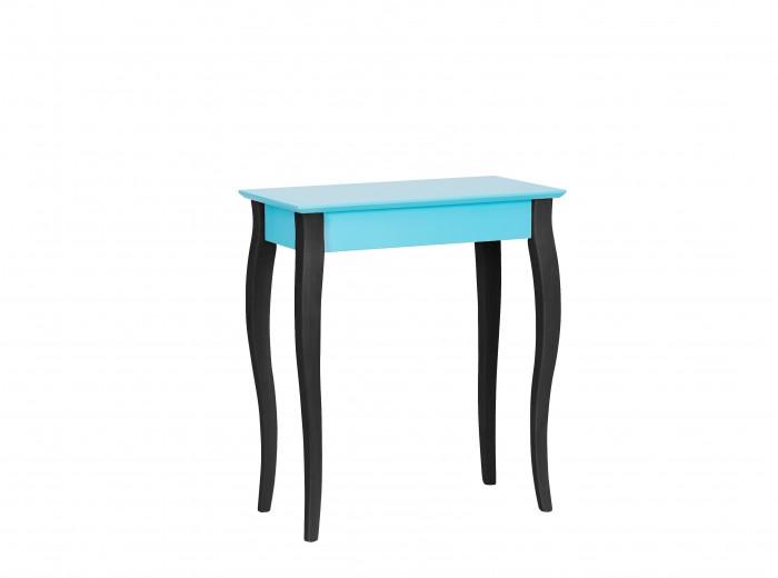 Consola din lemn de fag si MDF Lillo Small Dark Turquoise / Black, l65xA35xH74 cm
