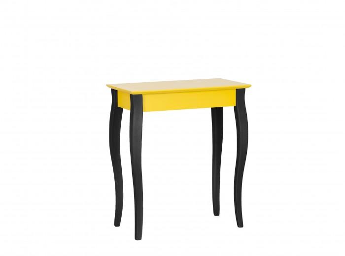 """Consola din lemn de fag si MDF """"Lillo Small"""" Yellow / Black, l65xA35xH74 cm"""