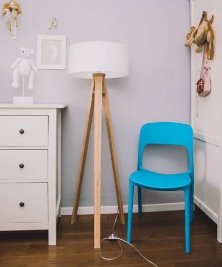 Lampadar Lamp Wanda White / Ash-Transparent