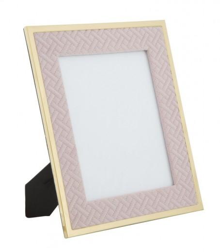 Rama foto decorativa din MDF si metal Rosa Large Roz / Auriu, 28 x 33,5 cm
