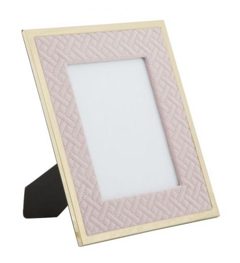 Rama foto decorativa din MDF si metal Rosa Small Roz / Auriu, 24 x 29 cm