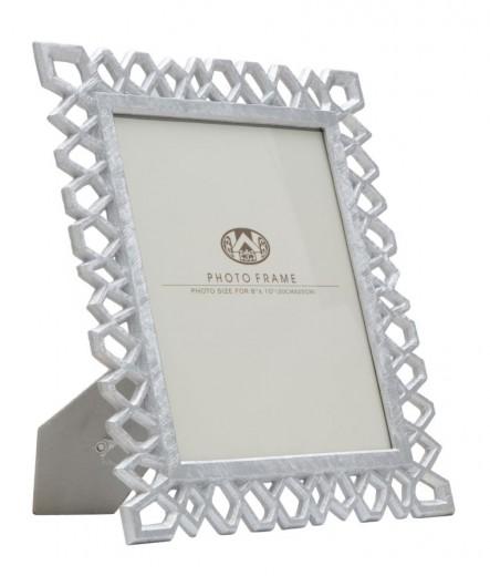 Rama foto decorativa din polirasina Cornice Classic Argintiu, 29,8 x 34,8 cm