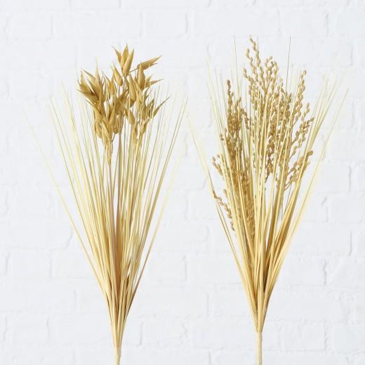 Ramura decorativa artificiala Bellflower Rice Natural, Modele Asortate, H48 cm