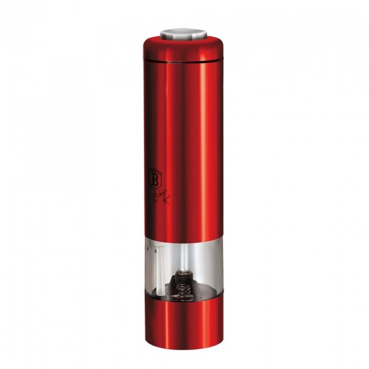 Rasnita electrica cu LED, pentru sare / piper, Metallic Line Burgundy