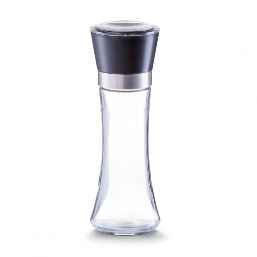 Rasnita sare / piper din sticla si plastic, Large Black Ø 6,5xH19,5 cm