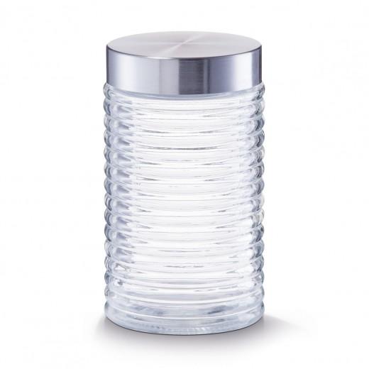 Recipient pentru depozitare Geri, capac inox, Glass 1000 ml, Ø 10,5xH17,5 cm