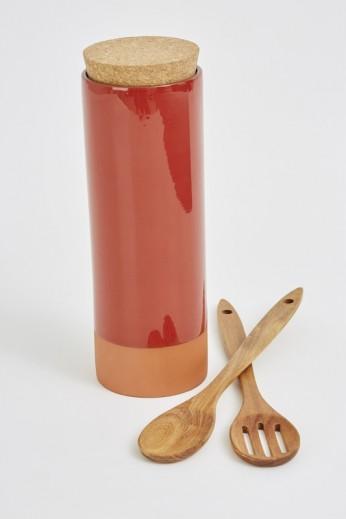 Recipient pentru paste si 2 linguri lemn, Jamie Oliver