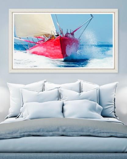 Tablou Framed Art Red Sailboat