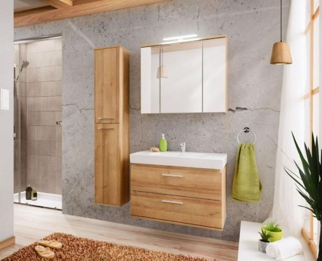 Set Mobilier pentru baie, 4 piese, Remik Riviera Oak XL