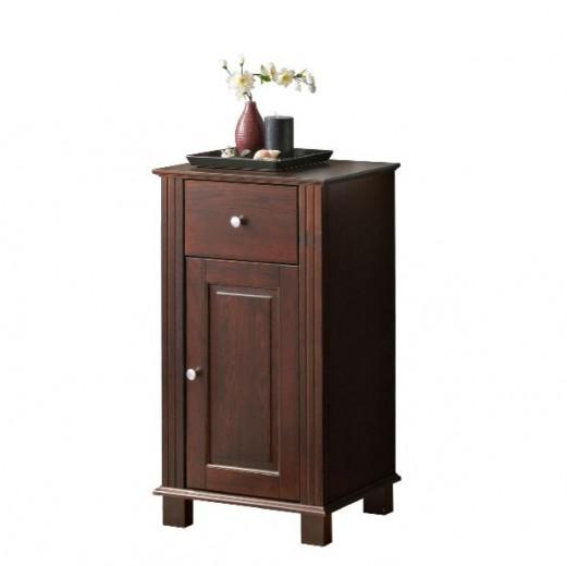 Dulap baie cu usa si sertar Retro, l46xA35xH82 cm