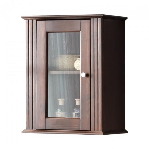 Dulap baie suspendat cu vitrina, 1 usa, Retro, l46xA25xH57 cm