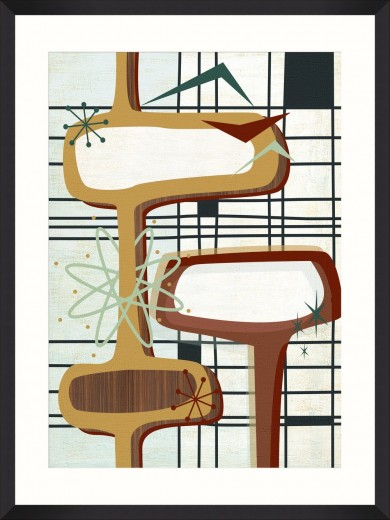 Tablou Framed Art Retro Atomic I