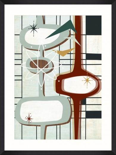 Tablou Framed Art Retro Atomic II