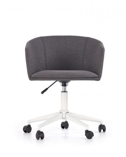 Scaun de birou ergonomic tapitat cu stofa Riso Dark Grey, l57xA59xH70-80 cm