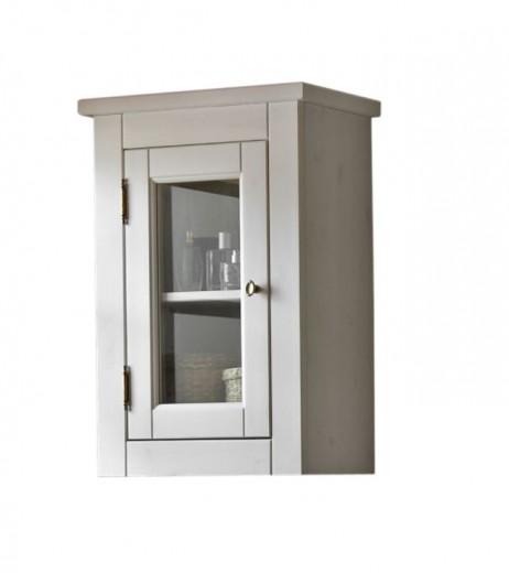 Dulap baie suspendat cu vitrina, 1 usa, Romantic, l45xA25xH65 cm