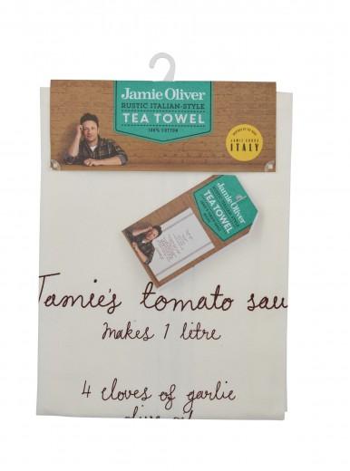 Prosop de bucatarie cu reteta 50 x 70 cm, Tomato Sauce, Jamie Oliver