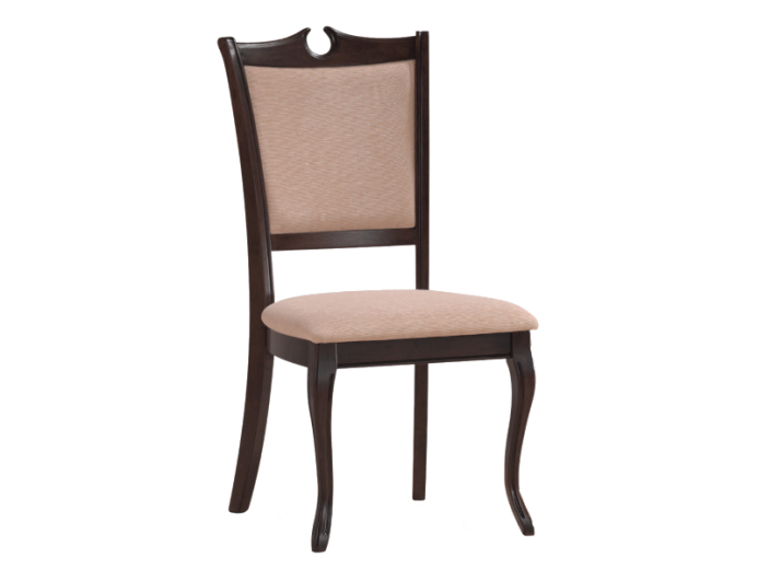Scaun din lemn masiv tapitat RY-SC nuc