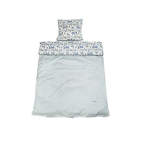 Lenjerie de pat copii Cotton Baby Grey Animal