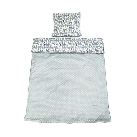 Lenjerie de pat copii Cotton Junior Grey Animal