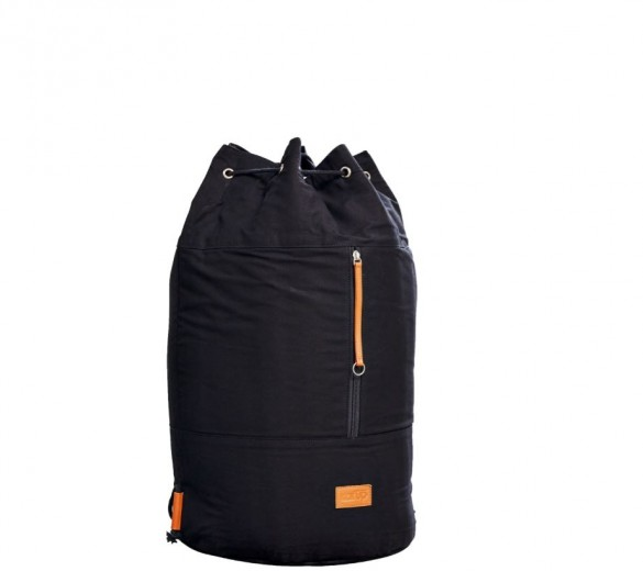 Sac Multifunctional din bumbac Roadie Black, Ø 35xH60 cm