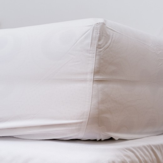 Cearceaf pentru saltea cu elastic White-200 x 140 cm