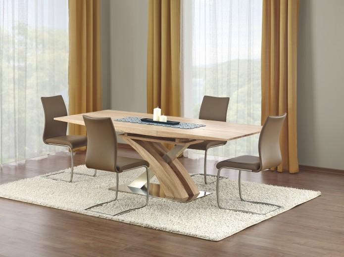 Set Masa din MDF Sandor Sonoma + 4 scaune K181