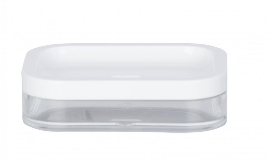 Sapuniera din acril Oria Alb, L7,5xl7,5xH3 cm
