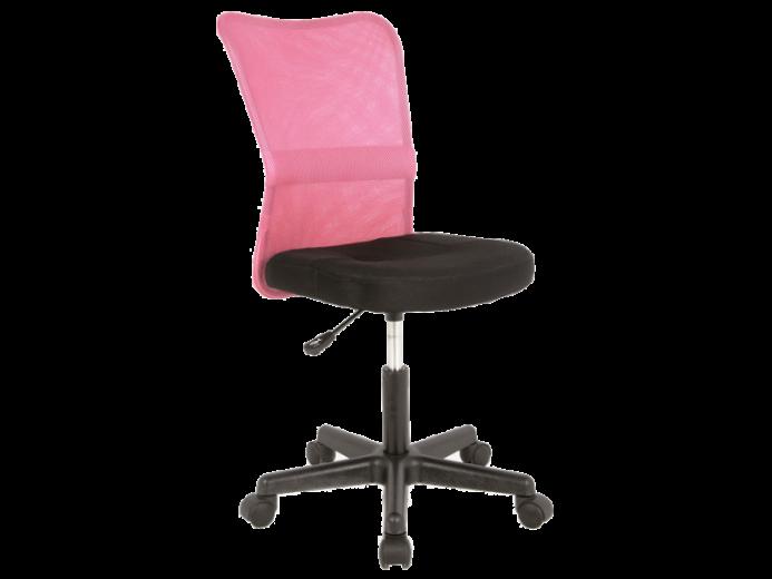 Scaun de birou ergonomic, tapitat cu stofa Q-121 Pink / Black, l41xA41xH74-86 cm