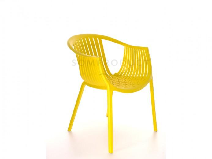 Scaun din plastic Luigi Yellow, l53xA64xH76 cm