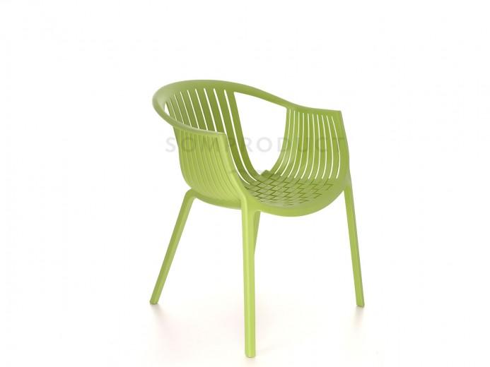 Scaun din plastic Luigi Green, l53xA64xH76 cm