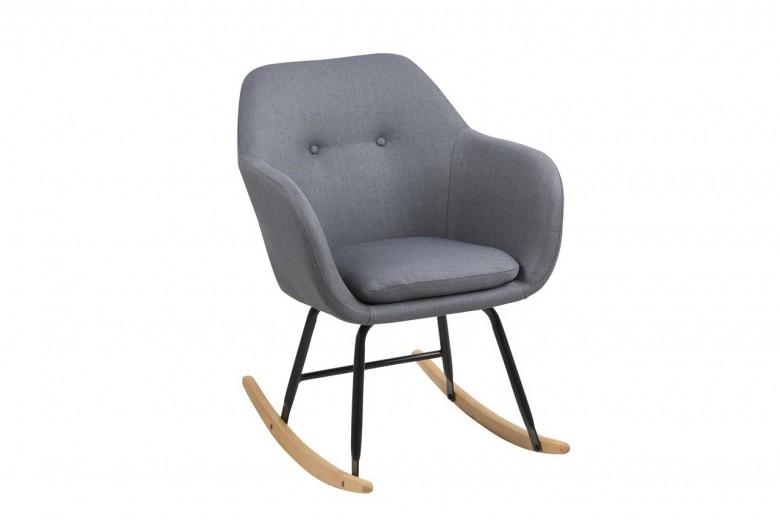 Scaun balansoar tapitat cu stofa Emilia Dark Grey, l57xA71xH81 cm