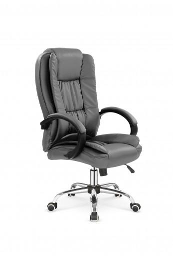 Scaun de birou directorial tapitat cu piele ecologica Relax Grey, l64xA75xH110-118 cm