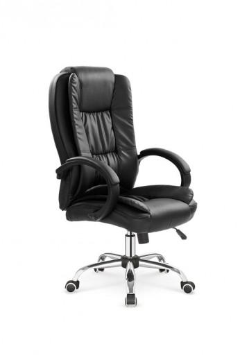 Scaun de birou directorial, tapitat cu piele ecologica Relax Black, l64xA75xH110-118 cm