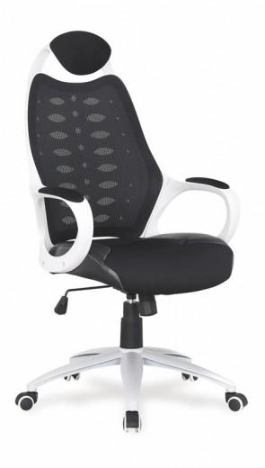 Scaun de birou directorial, tapitat cu piele ecologica si stofa Striker II Black / White, l62xA65xH112-120 cm
